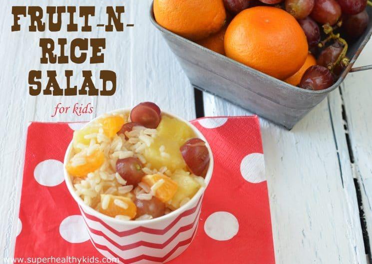 fruit n rice salad for kids