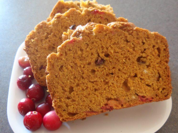 Pumpkin Cranberry Bread. Fellow bread addicts beware!