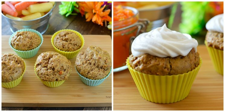 Carrot Muffins. Instead of shredded carrots in these carrot muffins, we used our carrots in a completely different way- Check it out!