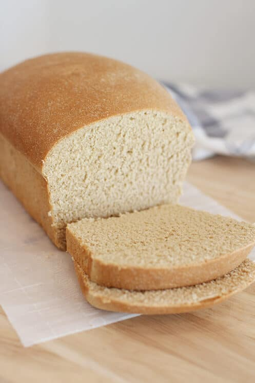 White Whole Wheat Bread sliced