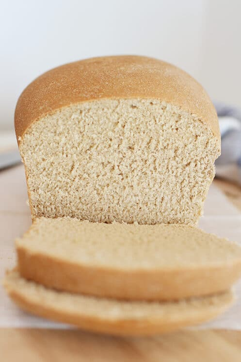 White whole wheat bread slices