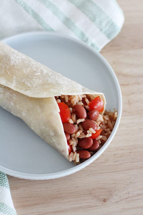 Red Beans and Rice Wrap - Super Healthy Kids