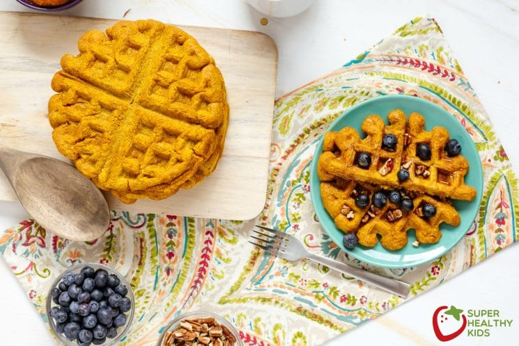 Pumpkin Waffles Recipe. A great way to boost breakfast!