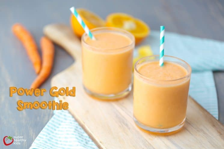 Power Gold Smoothie Recipe. We've got one ingredient in this smoothie that you don't usually find in delicious, sweet smoothies like this!