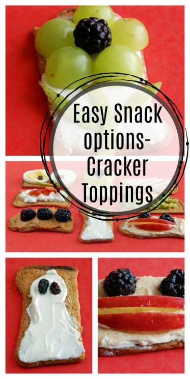 Easy Snack options- Cracker Toppings