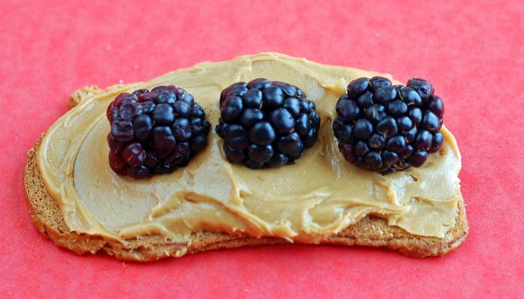 peanut butter and berry