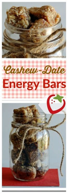 cashew date bars - homemade lara bars