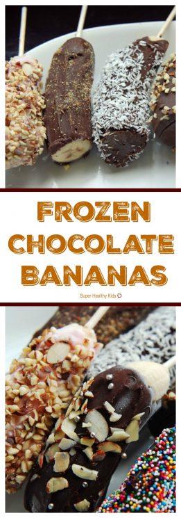 FOOD - Frozen Chocolate Bananas. Fancy Frozen Treat! https://www.superhealthykids.com/the-roskelley-rsquo-s-banana-stand/