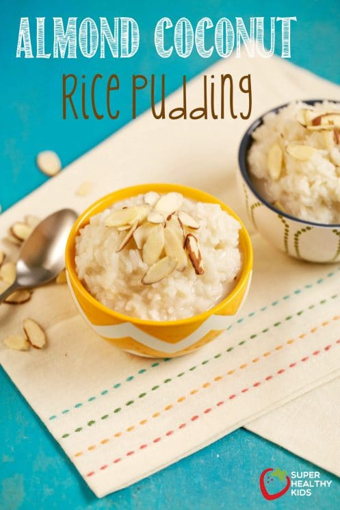 Almond Coconut Rice Pudding. Dessert that leaves you feeling satisfied and not sick!