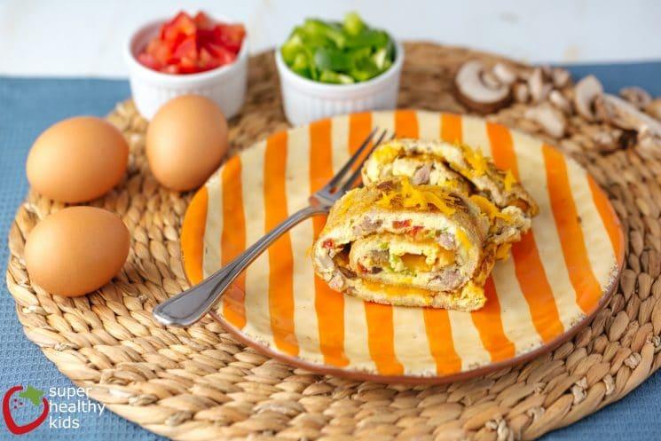 Baked Omelet Roll-Up