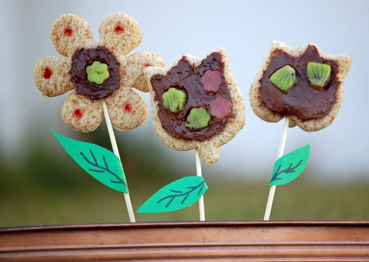 flower snacks with whole grain flour
