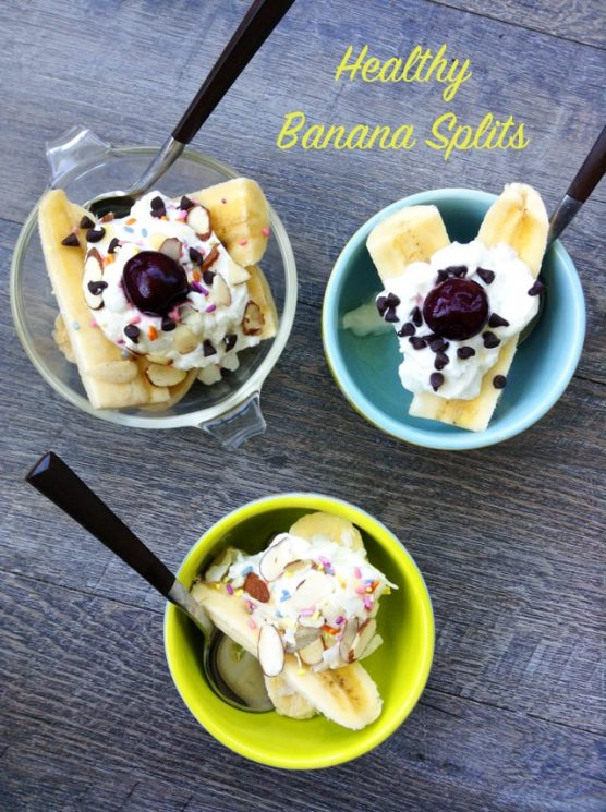 Healthy Banana Splits. Turn a traditionally-decadent dessert into a healthful snack with whole milk yogurt, fruit, seeds and dark chocolate chips!