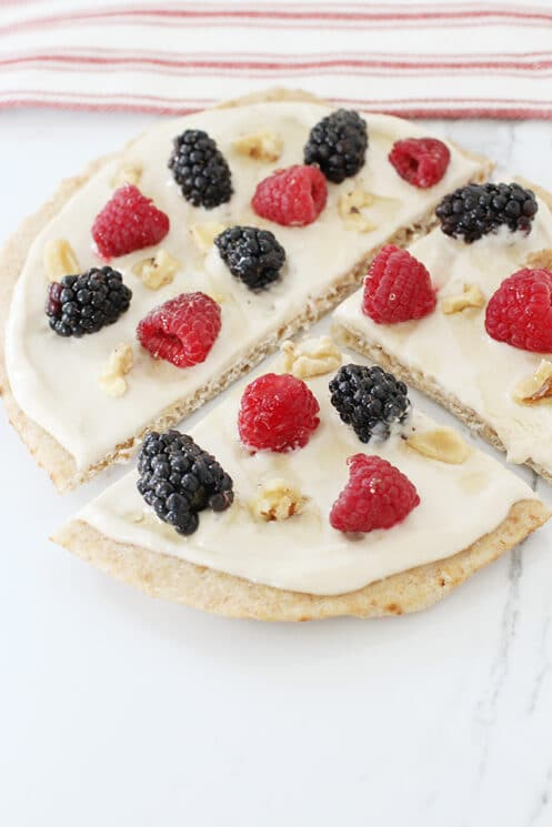 Breakfast Pizza with berries
