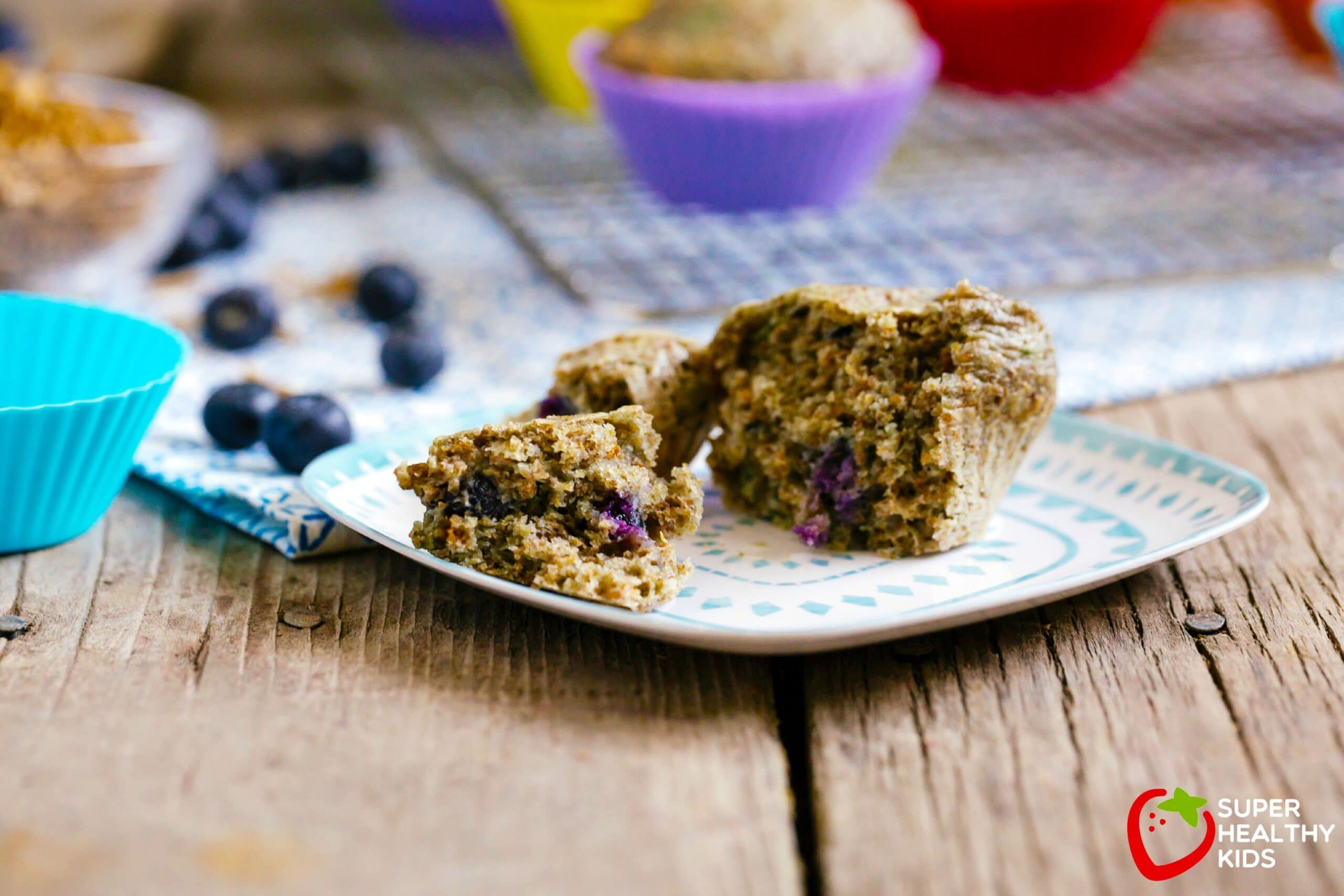 Blueberry Bran Muffin Recipe Super Healthy Kids