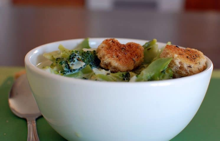 Brainy Broccoli Soup Recipe. If broccoli can make a kid smarter, we're eating this every night!