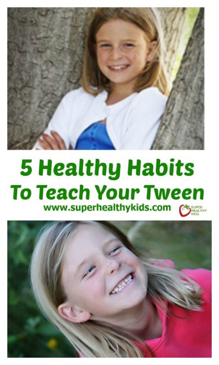 PARENTING - 5 Healthy Habits To Teach Your Tween. Are you ready for a tween? Here are 5 habits you might want to teach them!