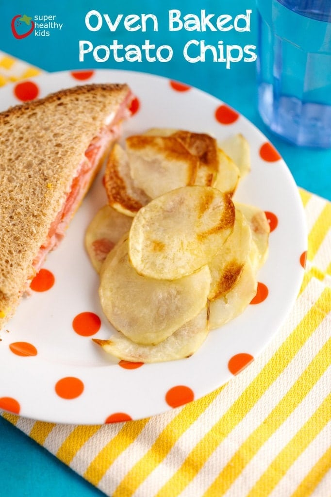 Oven Baked Potato Chips -- healthy, easy and SO delicious!