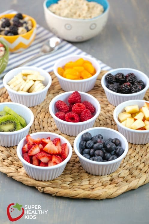 Rainbow Oatmeal Bar Recipe. A variety of options for breakfast- so healthy and delish