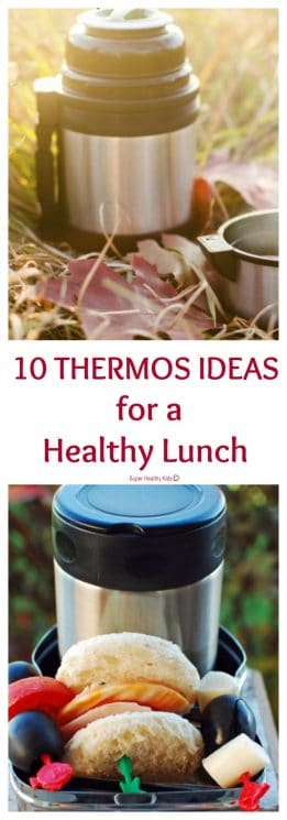 FOOD - 10 Thermos Ideas For A Healthy Lunch. How you can send hot or cold food to school! https://www.superhealthykids.com/10-thermos-ideas-for-a-healthy-lunch/