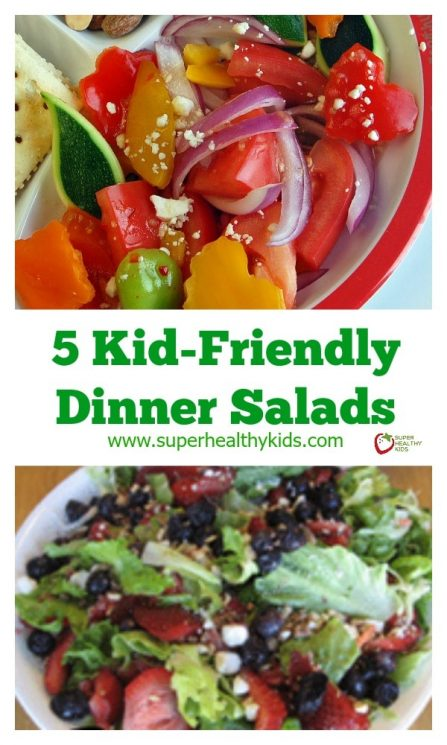 FOOD - Irresistible Kid Friendly Dinner Salads. These irresistible, kid friendly salads are the perfect side to any dinner! https://www.superhealthykids.com/5-kid-friendly-dinner-salads-so-you-can-lsquo-be-a-star-rsquo/