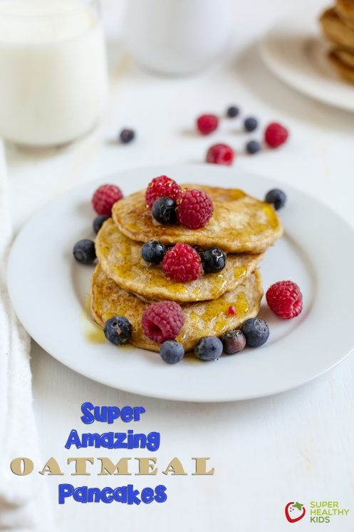 Super Amazing Oatmeal Pancake Recipe. Give these pancakes a try to get the benefits of oatmeal in a pancake!