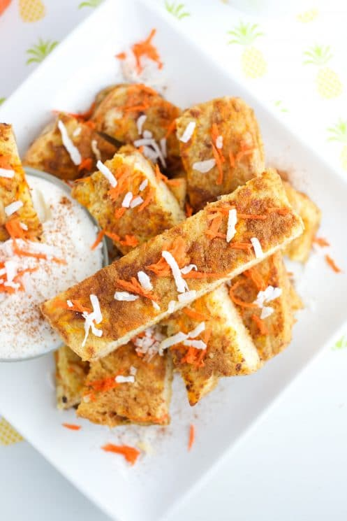Kids love these carrot cake french toast sticks! | Super Healthy Kids | Food and Drink