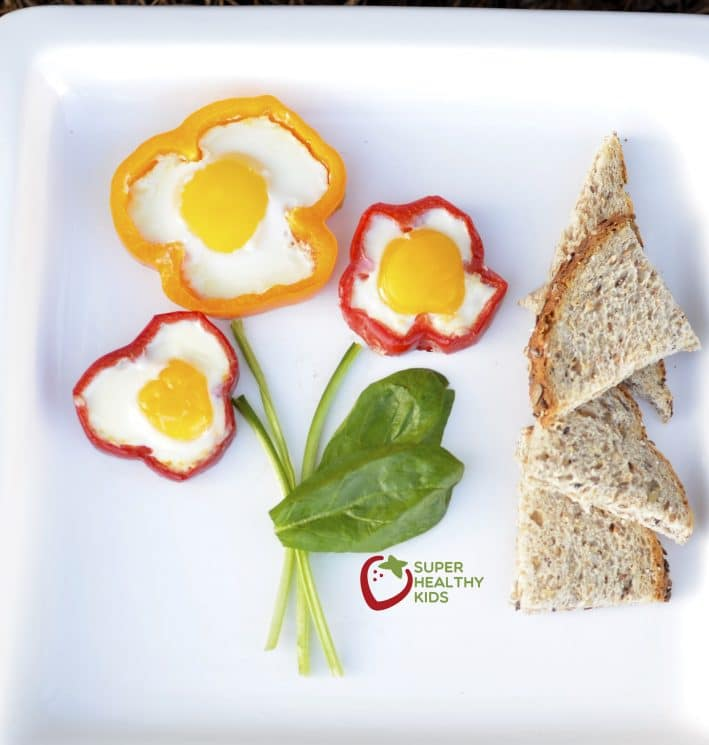 Egg in a Red Bell Pepper. A fun way to eat eggs...with some extra veggies, too!