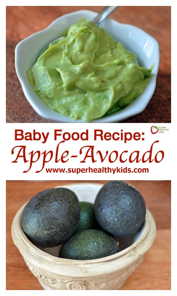 Baby Food Recipe: Apple-Avocado. Baby food! So creamy and perfect as a first foods!
