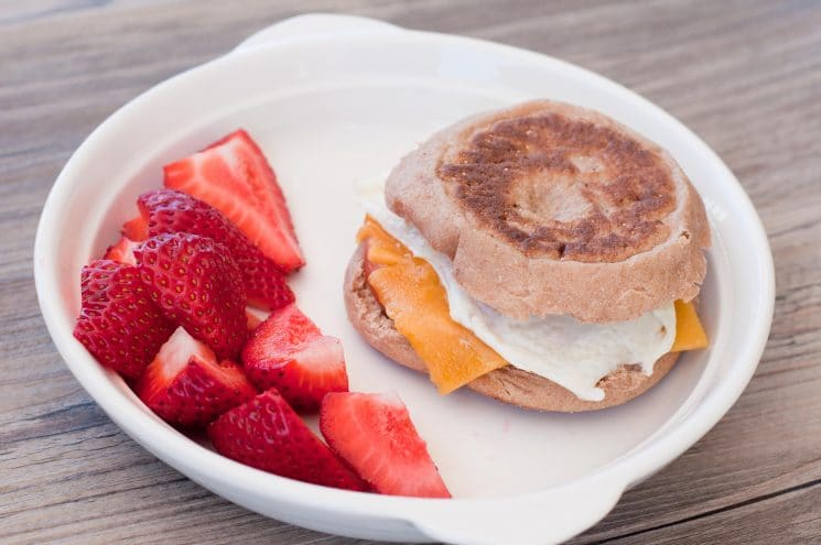 egg mcmuffin with fruit  super healthy kids