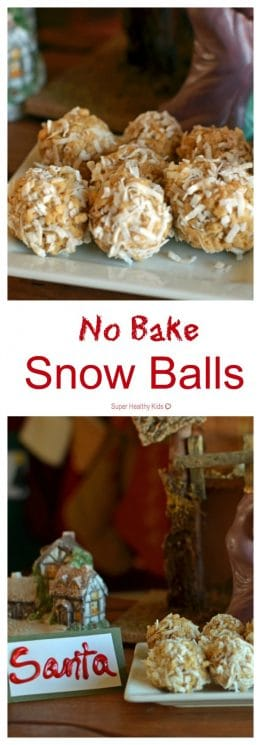 No Bake Snow Balls. Ahh!! We love this tradition! Making no-bake snowballs for Santa tonight! https://www.superhealthykids.com/snowballs-for-santa-and-veggies-for-rudolph/