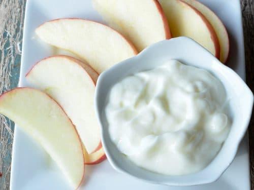 Apples & Yogurt Dip - Super Healthy Kids