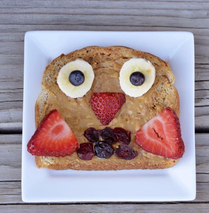 Owl Fruit Toast - Super Healthy Kids