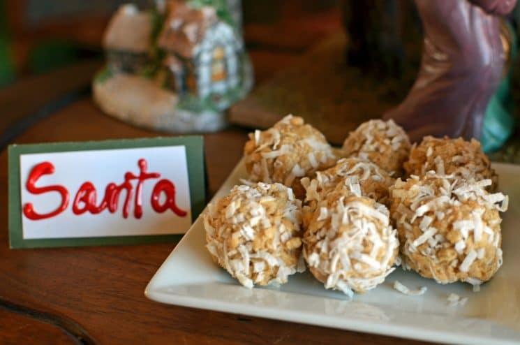 No Bake Snow Balls. Ahh!! We love this tradition! Making no-bake snowballs for Santa tonight!