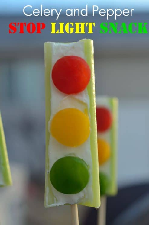 Healthy #Snack for Kids Stoplight Celery