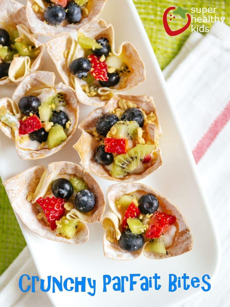 Crunchy Parfait Bites with Text