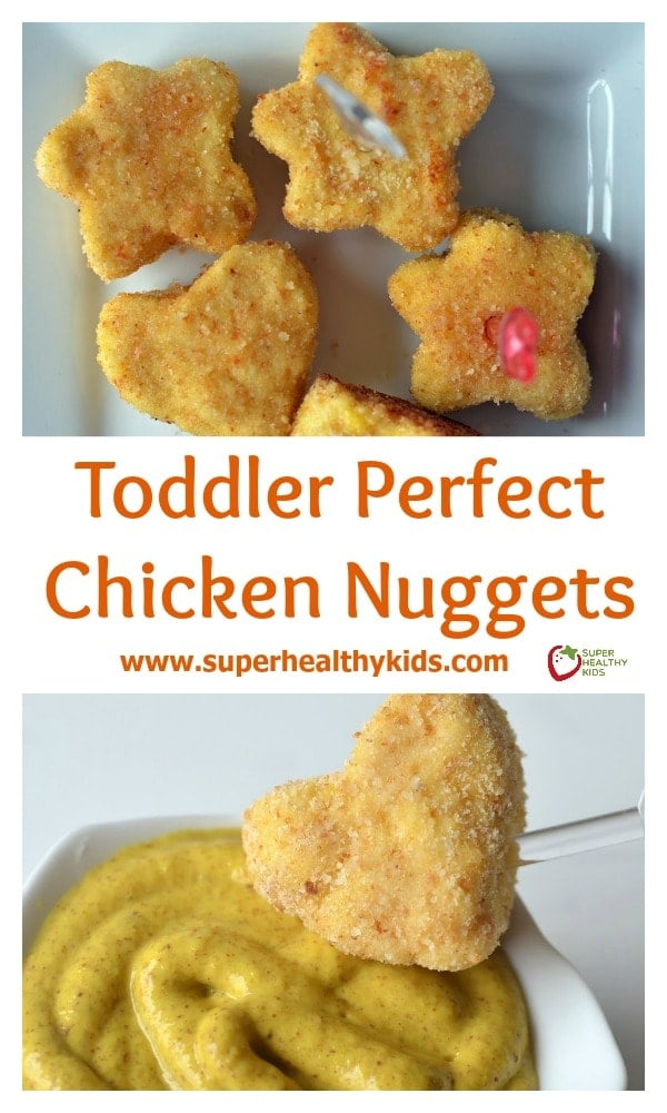 Toddler Perfect Chicken Nuggets Recipe. Easy for toddlers to eat without choking on hunks of meat!