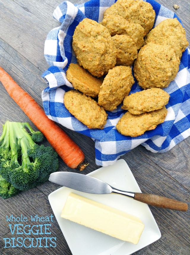 Whole Wheat Veggie Biscuits