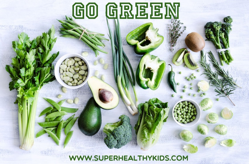 Healthy green vegetables