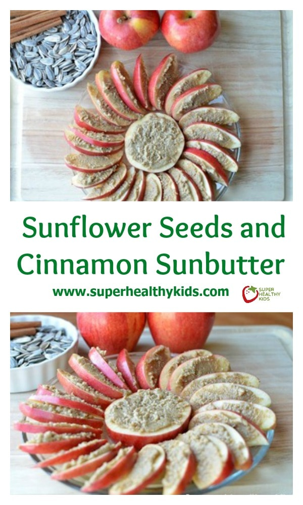Snacking with Sunflower Seeds and Cinnamon Sunbutter Recipe. Cinnamon Sunbutter! This has become such a staple at our house, we probably make it every 2-3 days! No lie.