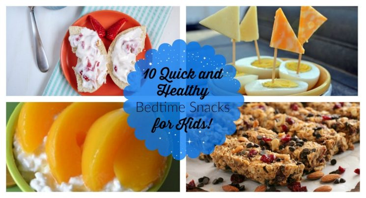 the best list of quick and healthy bedtime night time snacks