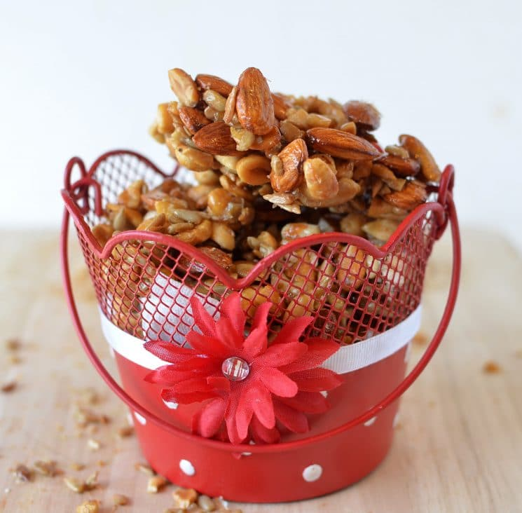 Sweet Nut Clusters Recipe. Crunchy, sweet, and full of healthy nuts- this snack is one we make more often than any other!