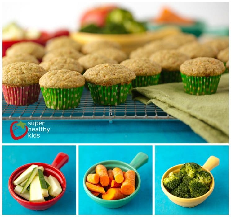 Power Packed Fruit and Veggie Muffin Recipe for Picky Eaters. Our most popular muffin because it has veggies inside! We have these ready to go on school mornings.