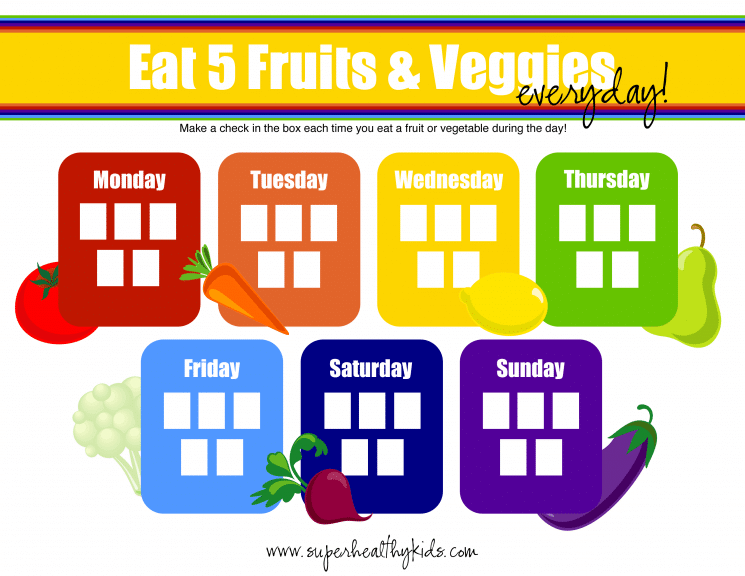 5 Tips for 5 A Day + Free Fruit and Veggie Printable. 5 tips for 5 a day!