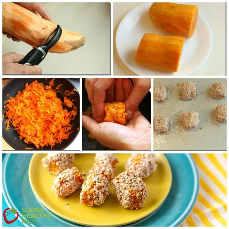 Sweet Potato Tots Recipe. More vitamins than tater tots- SWEET POTATO TOTS!