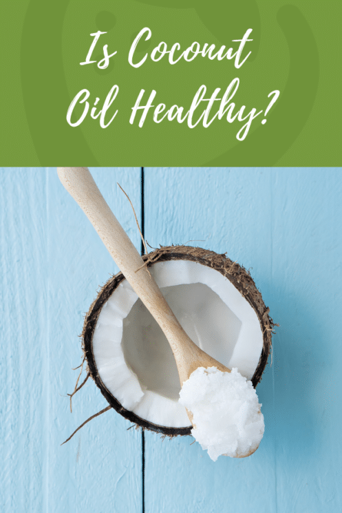 spoon full of coconut oil with a raw half coconut. Is it healthy?