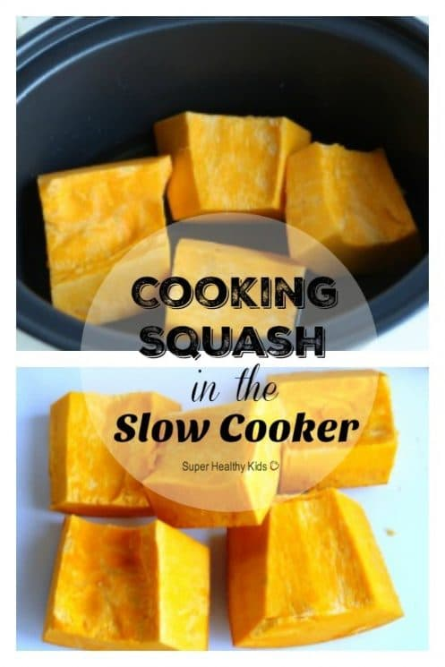 Cooking Squash in the Slow Cooker. Did you know cooking squash could be so simple? https://www.superhealthykids.com/cooking-squash-in-the-slow-cooker/