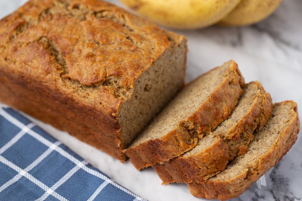 Healthy Moist Banana Bread Recipe
