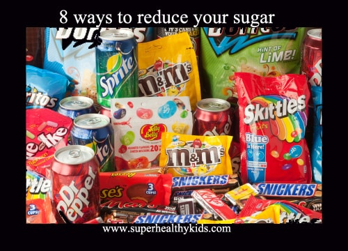 8 Ways To Reduce Your Kids Sugar Intake. Let's committ together! While you don't have to eliminate sugar, these 8 simple ways will definitely help you reduce it!