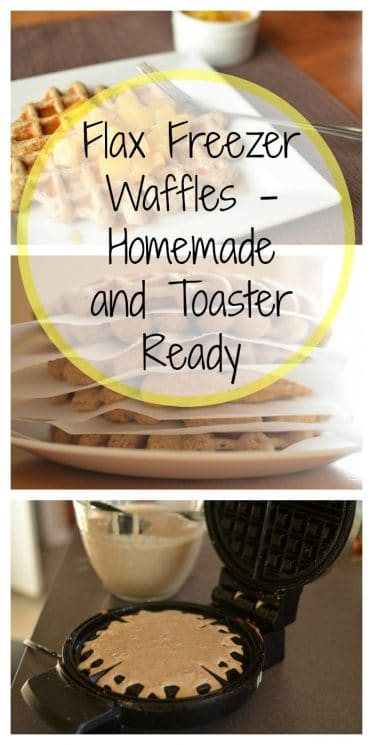 Flax Freezer Waffles - Homemade and Toaster Ready