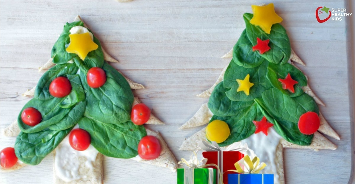 Fresh Spinach Personal Christmas Pizza Trees | Healthy Ideas for Kids